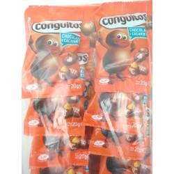 CONGUITOS CHOCOLATE NEGROS EN BOLSITAS 24.U