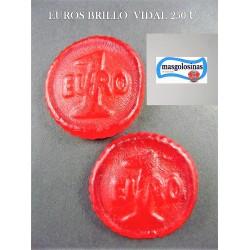Euros de gominola brillo Vidal 250 unid.1,6Kl aprox.