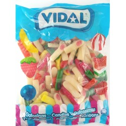 Dedos surtidos brillo Vidal. 250 unid. 1,6 kl aprox